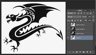 Dragon Outline Pattern