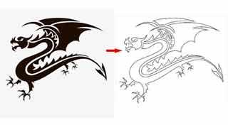 Dragon Scroll Saw Pattern